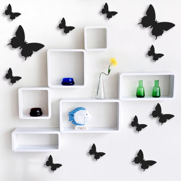schmetterlinge 3d wanddeko. Black Bedroom Furniture Sets. Home Design Ideas